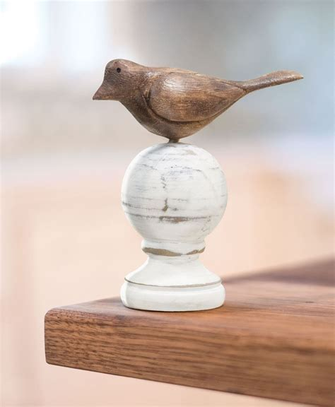 craft house designs wholesale wood carved bird finial