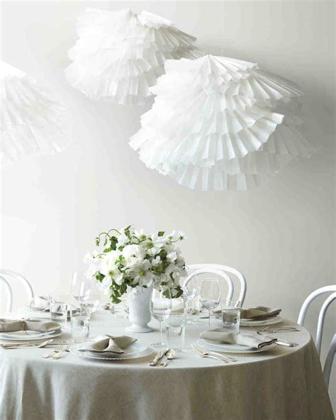 easy to make paper decorations for your wedding martha
