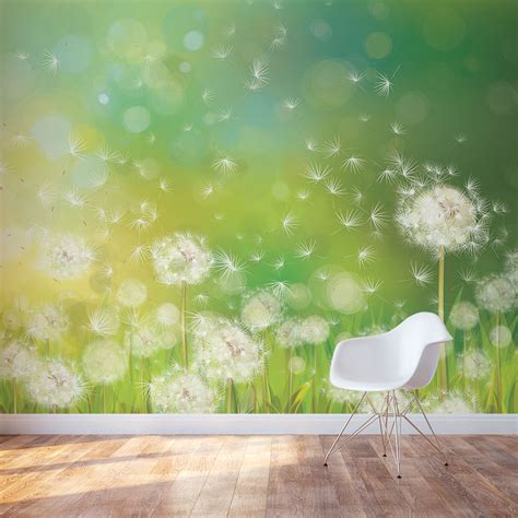 dandelion dream wall mural