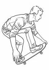 Skateboard Coloring Skateboarding Pages Hawk Drawing Printable Board Tony Ramp Drawings Penny Print Paper Template Getdrawings Colorings sketch template