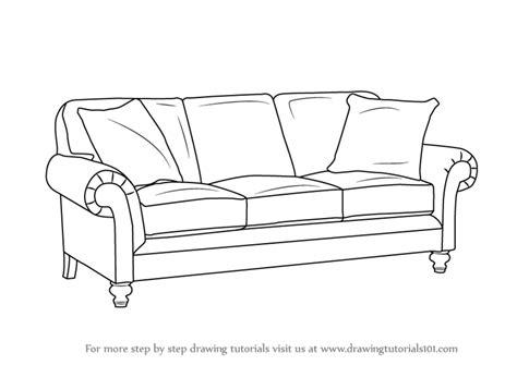 sofa set drawing how to draw a sofa set home everydayentropy com
