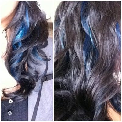 Navy Blue Lowlights by Blue Peek A Boo Highlights By Yelp