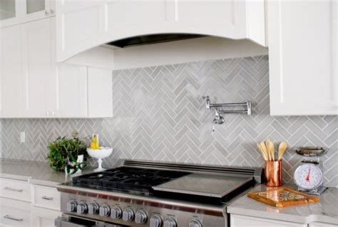 backsplash with white cabinets design trends 7 ways to use herringbone in your kitchen