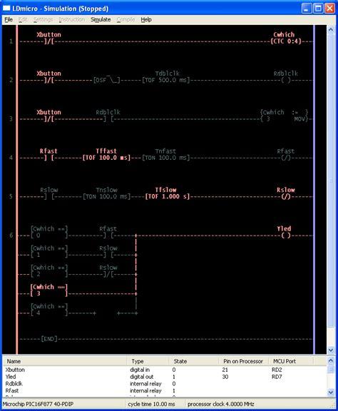 ldmicro ladder logic  pic  avr
