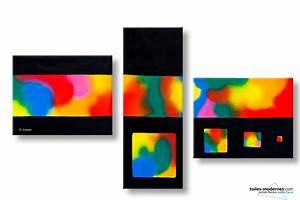 Tableau Moderne Coloré : un tableau triptyque color grand format paysage clairs obscurs cr ation design contemporain moderne ~ Teatrodelosmanantiales.com Idées de Décoration