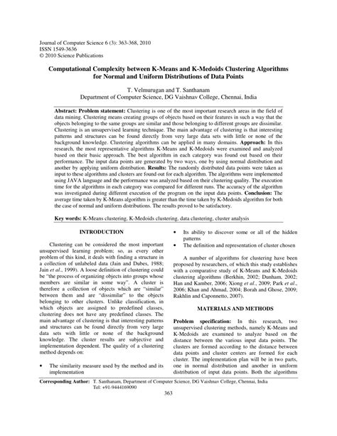(PDF) Computational Complexity between K-Means and K