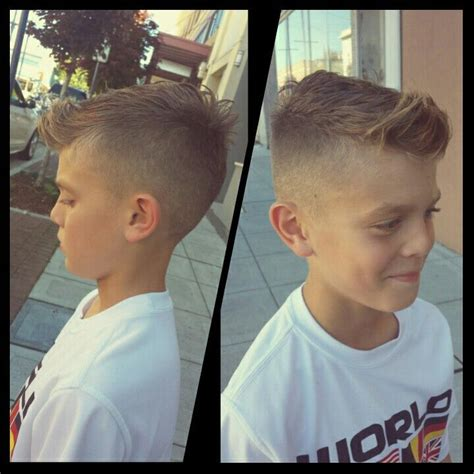 Boy Faux Hawk Hairstyle by Faux Hawk Boys Hairstyle Just In Time For His Soccer