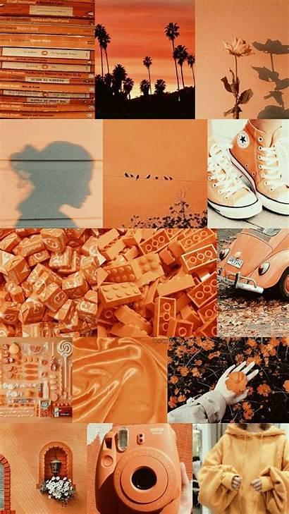 Collage Aesthetic Orange Laptop Pastel