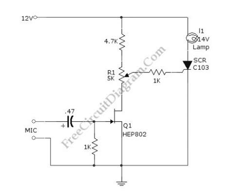 Sound Activated Lamp Circuit Diagram Relay Switch
