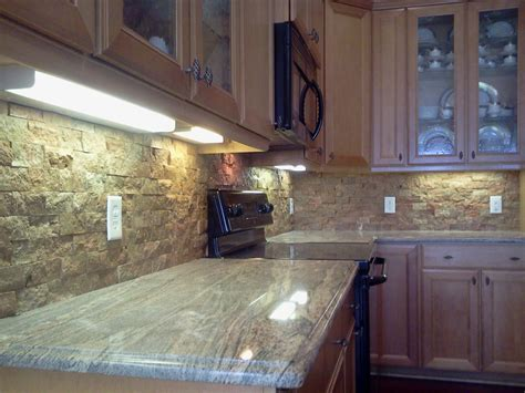 Ledger Stone Backsplash : Custom Kitchen Backsplash, Countertop