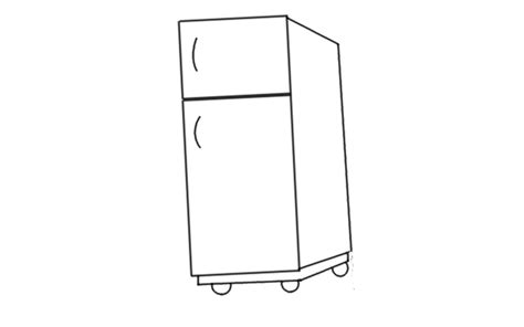 small rectangle table how to draw a fridge by fridge drawing for