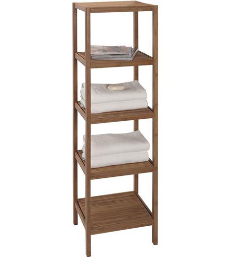 home design essentials bamboo shelving unit in bathroom shelves