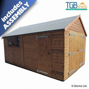 tgb heavy duty apex garage assembled With 18x10 garage door