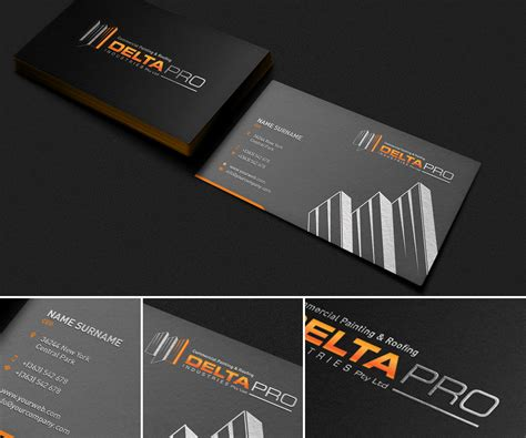 A construction business card is a useful tool that can help you to. Company Business Card Design Project - Revamp the image of an old construction company. | 115 ...
