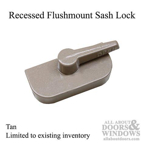 crestline recessed flush mount style sash lock tan