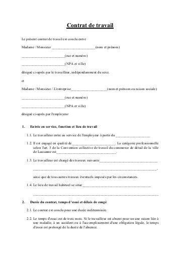 Modification Contrat De Travail Temps Plein En Temps Partiel by Modele De Contrat De Travail Cdi Temps Plein