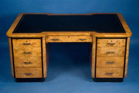 Maple Art Deco Partners Desk For Sale Antiques Com
