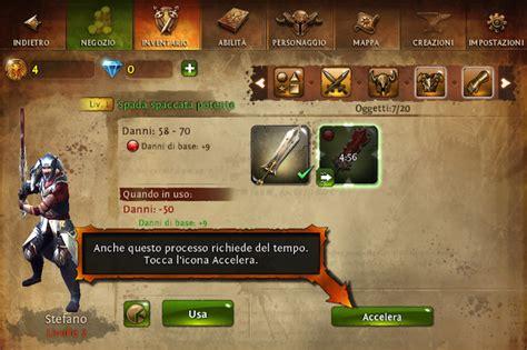 dungeon si鑒e dungeon 4 il diablo mobile di gameloft disponibile per iphone e spider mac