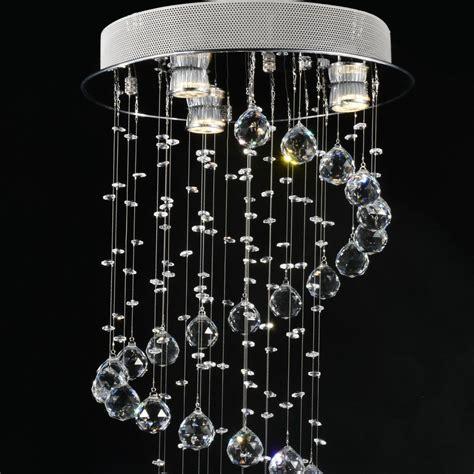 moderna lampara de arana cristal luz lustres  lampara