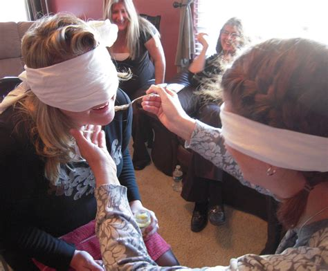 Feed The Baby Baby Shower - feed the baby blindfolded but they feed each other