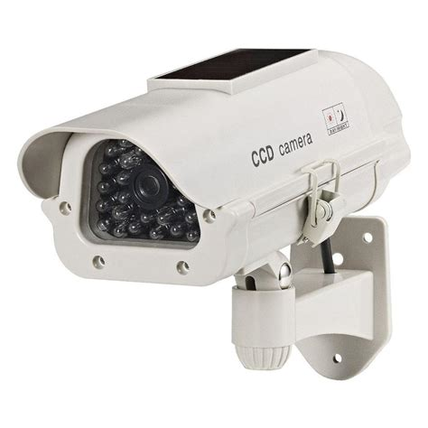 led security light with camera cop security dummy solar powered camera with led light