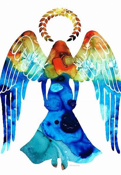 Angel Guardian Angels Spiritual Painting Paintings Cummings