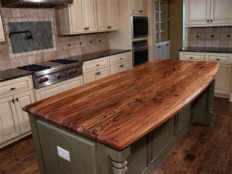 butcher block countertop island spalted pecan wood countertop photo gallery by devos