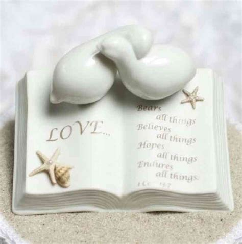 love verse bible  doves  starfish beach accents