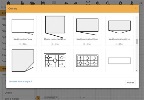 cuisine plan type plan de cuisine gratuit logiciel archifacile