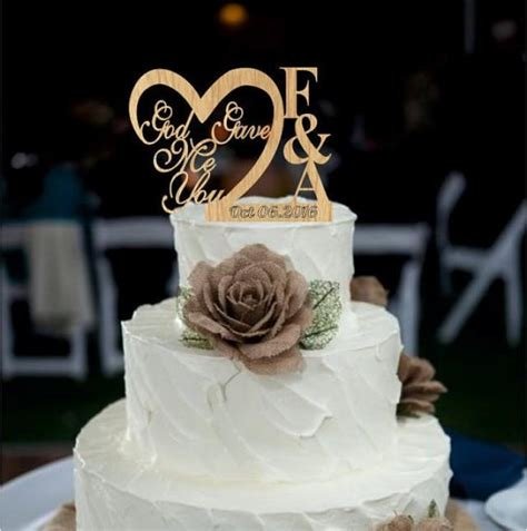 Custom Personalized Wedding Cake Topper Wedding Cake