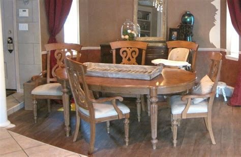 painted dining room table with classic mustard seed milk