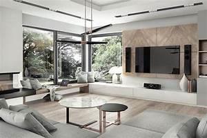 Wohnzimmer Holz Modern : wandgestaltung wohnzimmer mit tapete beispiele wandgestaltung wohnzimmer holz wandpaneele ~ Orissabook.com Haus und Dekorationen