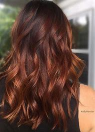 Dark Auburn Brown Hair Color with Highlights