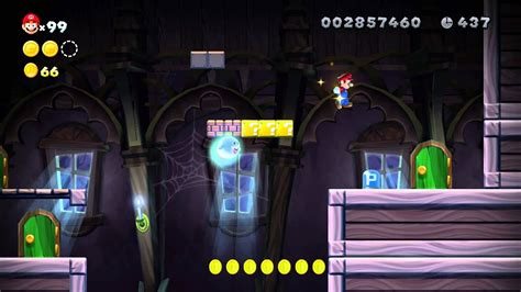 New Super Mario Bros U ~ Frosted Glacier Ghost House Star