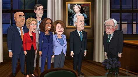 cartoon president parodies   democratic debate