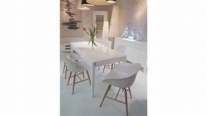 chaise blanche pied en bois chaise de salle manger With meuble salle À manger avec chaises blanches bois