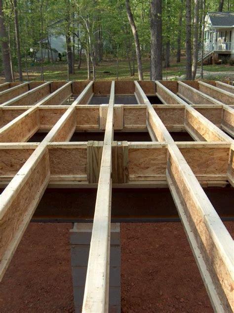 flooring joists house floor framing how to build a house