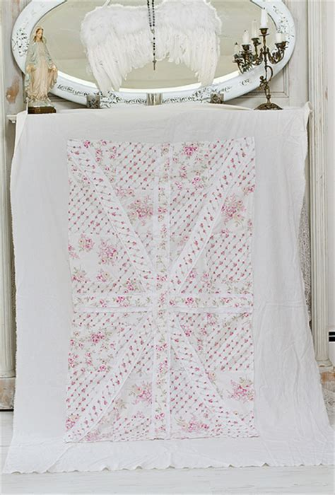 shabby chic union bedding union jack throw blanket shabby chic vintage rose jo anne coletti