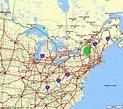 Eastern Us Map | Holiday Map Q | HolidayMapQ.com