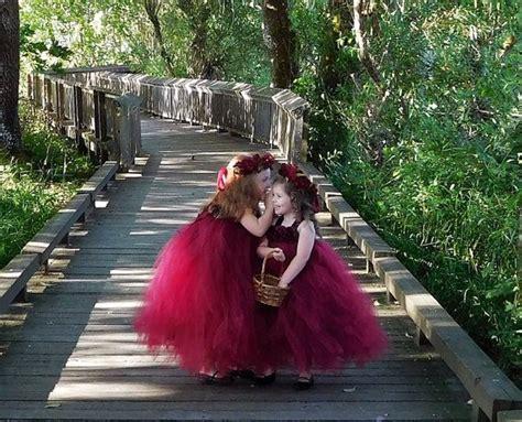burgundy flower girl dress marsala flower girl dress