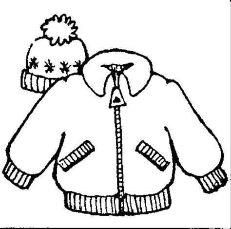 winter coat clipart black and white winter cloth clipart 42