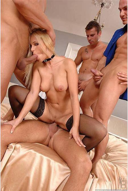 Nikki Sun Grinding Four Juicy Dicks At The Same Time @ HandsOnHardcore