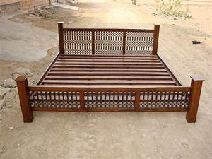 Indian Wooden Storage Bed