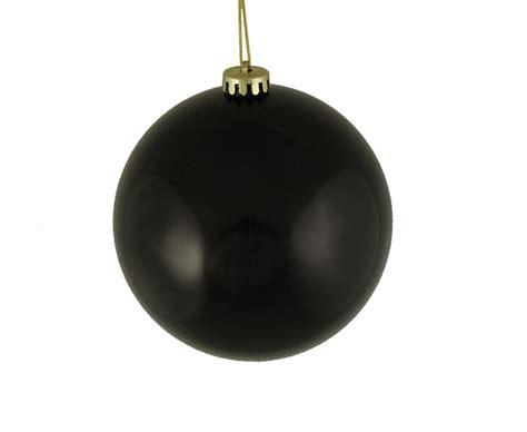 winterland inc glitter ball ornaments shiny jet black shatterproof ornament 6 quot 150mm central