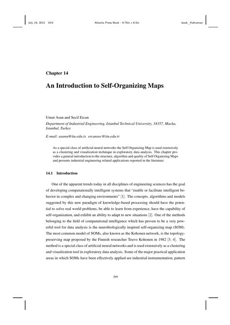 (PDF) An Introduction to Self-Organizing Maps