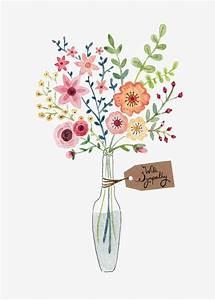 vase peint a la main les fleurs dessin image png pour With chambre bébé design avec bouquet de fleurs dessin