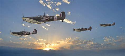 sky supermarine spitfire uk fighters clouds sun rays ww