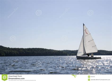 Sailboat On Water by Sailboat On Water Royalty Free Stock Photography Image