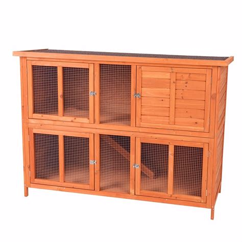 pet rabbit hutch bluebell hideaway hutch for rabbits and guinea pigs pets