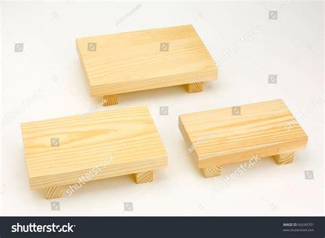 mini table cuisine small wooden table utensil put japanese stock photo